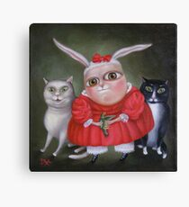 """Family Portrait  12"""" x 12"""" x 1""""  Original Painting - Sold Canvas Print"""