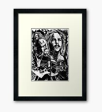 Metallica Black Framed Print