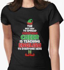 english teacher christmas shirt funny teacher christmas womens fitted t shirt