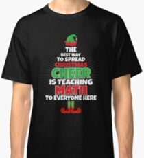 Mathe-Lehrer-Weihnachtshemd - lustiges Lehrer-Weihnachten Classic T-Shirt