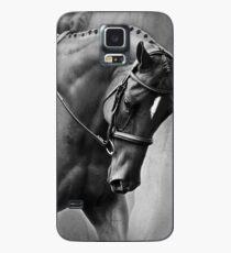 Funda/vinilo para Samsung Galaxy Elegance Dressage Horse en blanco y negro