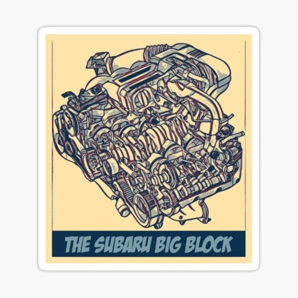 EG33 Subaru Big Block Sticker