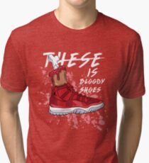These Is Bloody Shoes (Red) Tri-blend T-Shirt