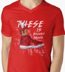 a8e626a41e34 These Is Bloody Shoes (Red) Men s V-Neck T-Shirt