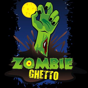 ZOMBIE GHETTO OFFICIAL LOGO DESIGN T-SHIRT by ZombieGhetto