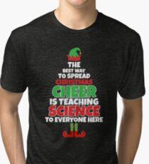 science teacher christmas shirt funny teacher christmas tri blend t shirt