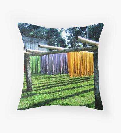 Coloured Hanks Throw Pillow