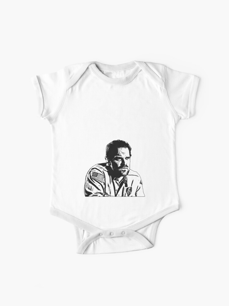 Stranger Things Jim Hopper Mornings Are For Coffee And Contemplation Baby One Piece