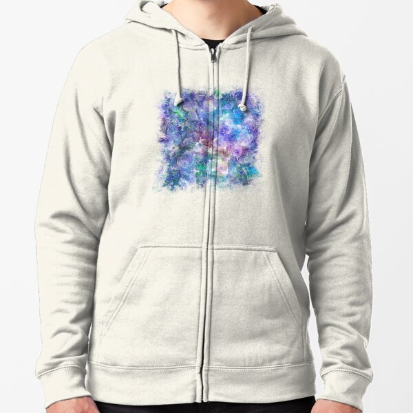 Crystal Frost 1 Zipped Hoodie