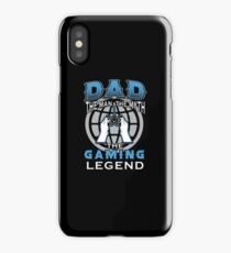 Dad The Legend Gaming T Shirt iPhone Case/Skin