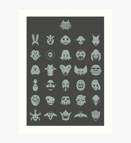 Mask Collection Art Print