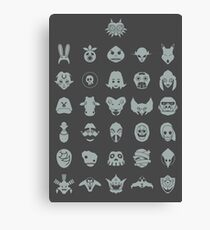 Mask Collection Canvas Print