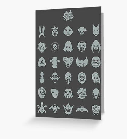 Mask Collection Greeting Card