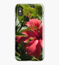 Hawaiian red flower iPhone Case/Skin