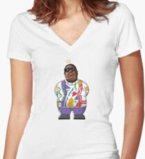 Biggie Smalls Women's Fitted V-Neck T-Shirt