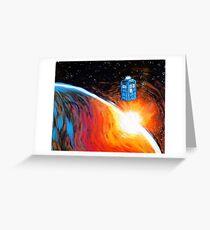 Time Travel Tardis Greeting Card