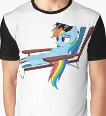 Sun Bathing Pony Graphic T-Shirt