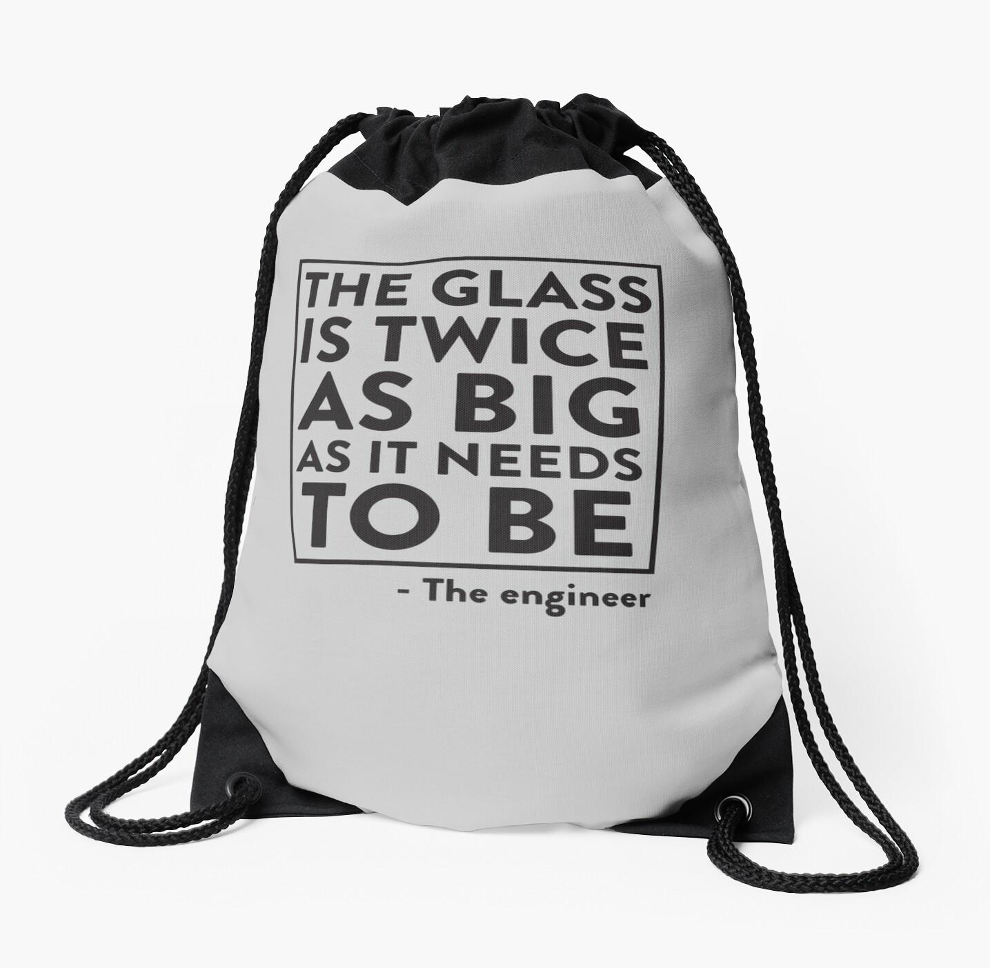 12a8fd788e4d Large Drawstring Shoulder Bag. nextprev. prevnext. The Glass Is Twice As  Big.