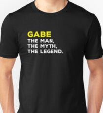 GABE The Man, The Myth, The Legend Gift T-Shirt Men Boys Unisex T-Shirt