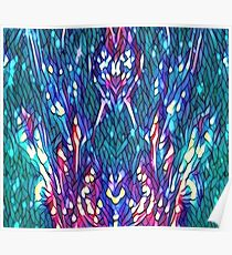 Mosaic Peacock Design  Poster