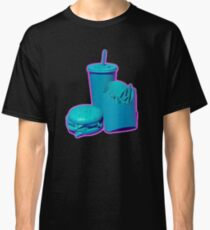 Blue and Purple Fast Food Design Classic T-Shirt