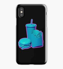 Blue and Purple Fast Food Design iPhone Case/Skin