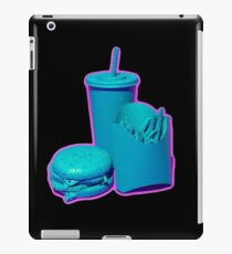 Blue and Purple Fast Food Design iPad Case/Skin