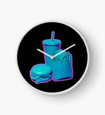 Blue and Purple Fast Food Design Clock