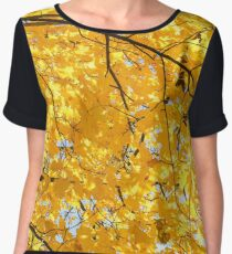 Yellow foliage in the sun. Women's Chiffon Top