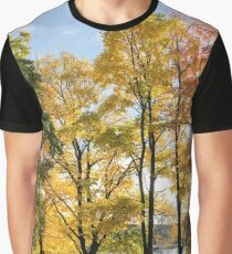 Autumn trees on the river bank. Graphic T-Shirt