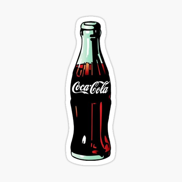 Bouteille Coca-Cola Pop Art Sticker