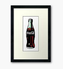 Pop Art Coca-Cola Bottle Framed Print