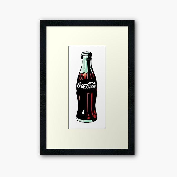 Pop Art Coca-Cola Bottle Framed Art Print