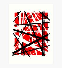 Frankenstein Pattern (Red) Art Print