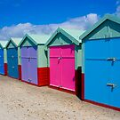 Beach Huts Series 18 by Amanda White