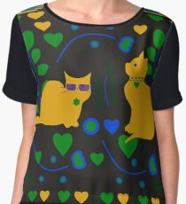 Romantic kitties Women's Chiffon Top