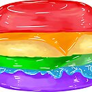 Small Rainbow Burger by aidadaism