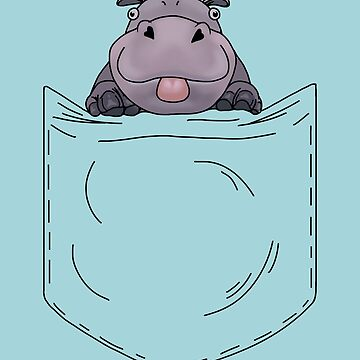 Hippo in a pocket by quenguyen