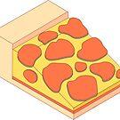 Isometric Pepperoni Pizza by aidadaism