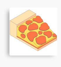Isometric Pepperoni Pizza Canvas Print