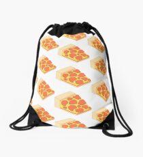 Isometric Pepperoni Pizza Drawstring Bag