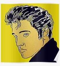 Elvis Gold Poster