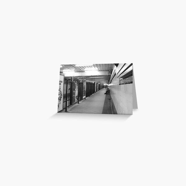 Flinders st Tunnel Greeting Card