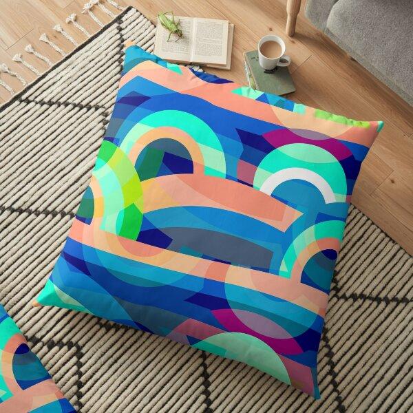 Marine abstraction Floor Pillow
