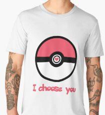 """""""I Choose You"""" Romantic Pokemon Design Men's Premium T-Shirt"""
