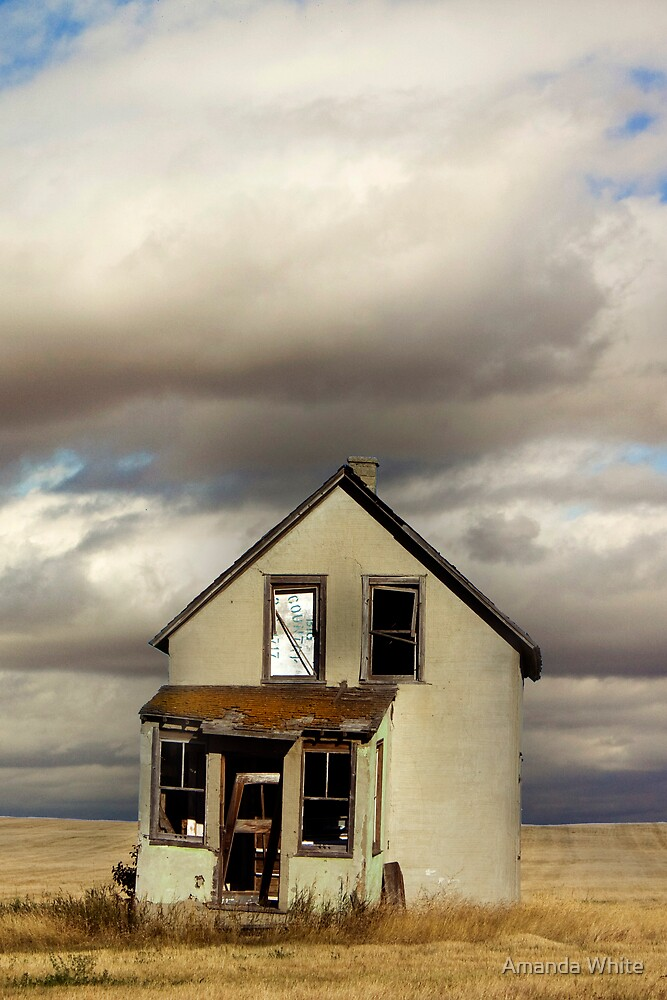 Little Abandoned House on the Prairie by Amanda White