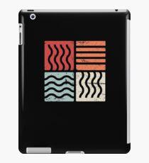 Retro Minimal Four Elements iPad Case/Skin