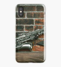 Jazz Saxophone Grunge iPhone Case/Skin