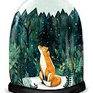 SnowGlobe Fox by Sandra Dieckmann
