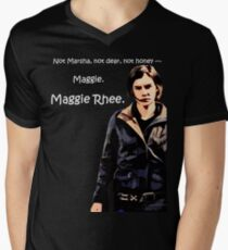 The Walking Dead Maggie Rhee T Shirt Men's V-Neck T-Shirt